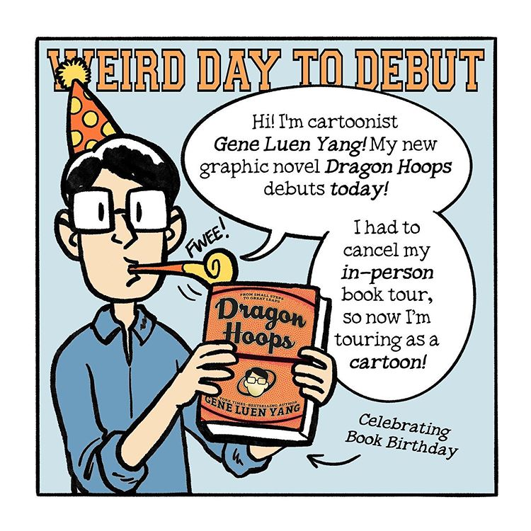 """Dragon Hoops (Online) Book Tour: Day 7, """"Weird Day to Debut"""""""