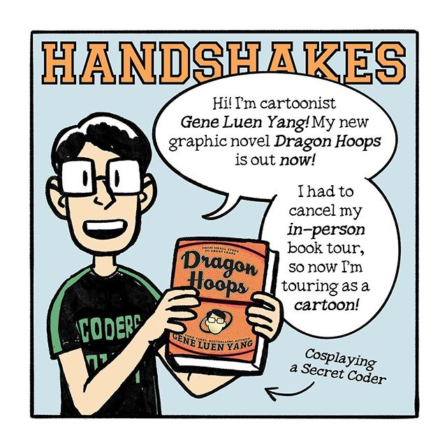"Dragon Hoops (Online) Book Tour: Day 9, ""Handshakes"""