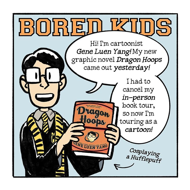 "Dragon Hoops (Online) Book Tour: Day 8, ""Bored Kids"""